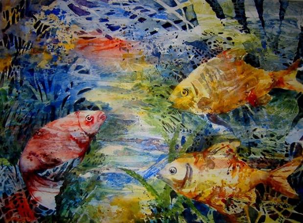 Como pez en el agua, acuarela, 2010_AFlorDePiel_linne_magazine_Fotografía_De_Miriam Sanabria Colin