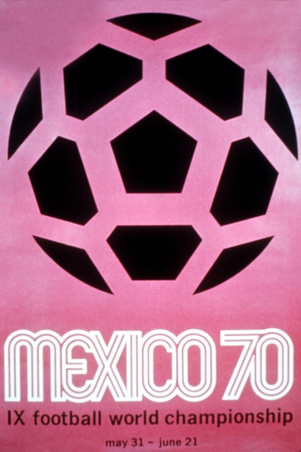 WORLD CUP OFFICIAL POSTER 1970