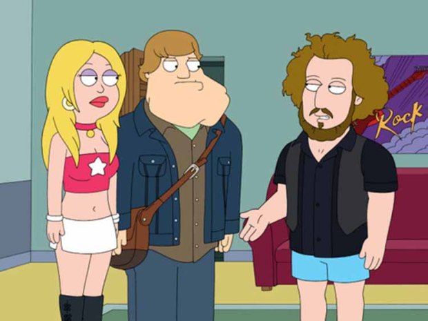 "AMERICAN DAD: Stan becomes obsessed with the band My Morning Jacket (guest-voicing as themselves) and decides to become a groupie in the ""My Morning Straitjacket"" episode of AMERICAN DAD airing Sunday, Nov. 22 (9:30-10:00 PM ET/PT) on FOX. AMERICAN DAD ™ and ©2009TCFFC ALL RIGHTS RESERVED."
