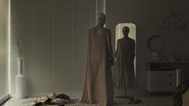 """Susanne Wuest stars as a mother who returns home to her twin boys after cosmetic surgery in """"Goodnight Mommy."""""""