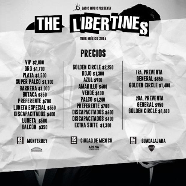 the-libertines-precios